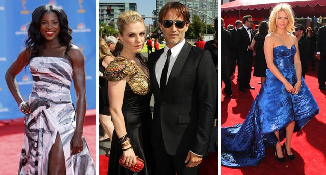 Rutina Wesley from True Blood, Anna Paquin and Stephen Moyer from True Blood, January Jones from Mad Men