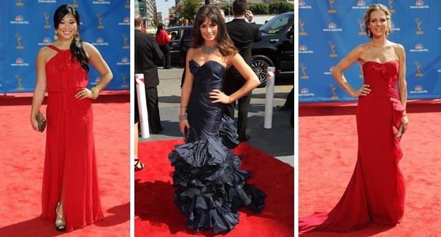 Glee girls... Jenna Ushkowitz, Lea Michele, Jessalyn Gilsig