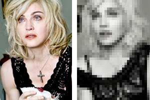 Check out Madonna before and after Photoshop