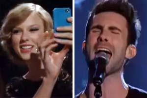 Watch Maroon 5 cover Taylor Swift & T-Swizz freak out with excitement!
