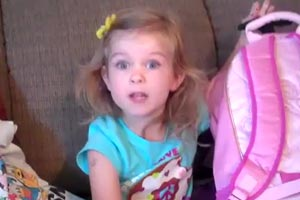 6-year-old girl's cute reaction to Disneyland Surprise