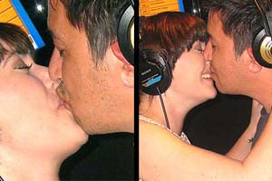 Dice Of Dare: Mike & Sharyn french kiss