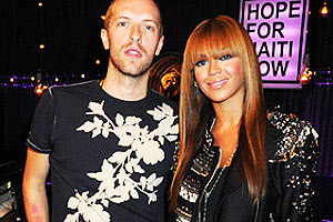 Beyonce and Chris Martin