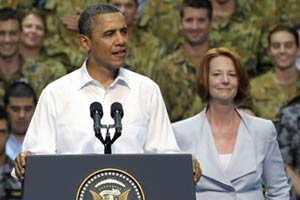 Obama gets down with the Aussie lingo