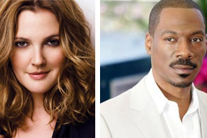 Drew Barrymore and Eddie Murphy