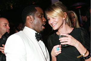 Puff Daddy and Cameron Diaz
