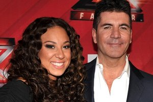 Melanie Amaro and Simon Cowell