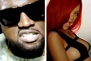 Kanye West and Rihanna