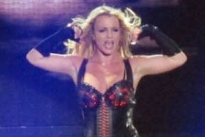 Britney's sweaty surprise Las Vegas gig