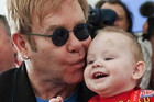 Elton John with his son Zach