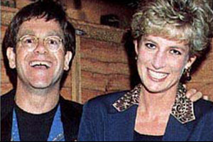 Sir Elton John and Princess Diana