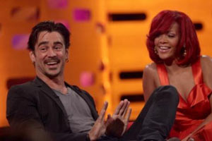 Colin Farrell and Rihanna
