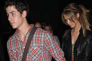 Delta Goodrem and Nick Jonas