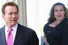 Arnold Schwarzenegger and Patty Beana