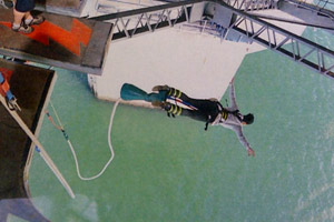 Katy Perry bungy jumps