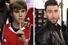 Justin Bieber and Adam Levine