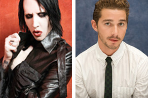 Marilyn Manson and Shia Labeouf