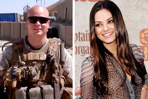 Mila Kunis accepts marine's invite to military ball