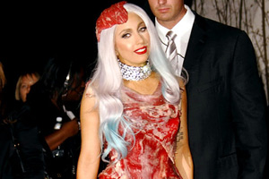 Lady Gaga's meat dress raises a stink