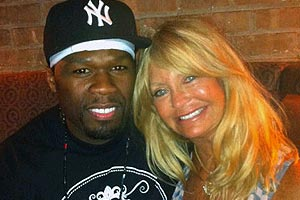 50 Cent & Goldie Hawn snapped on a date?