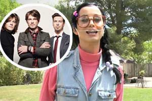 Hanson never met the real Katy Perry on video set