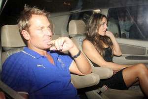 Liz Hurley is sick of plastic Shane Warne