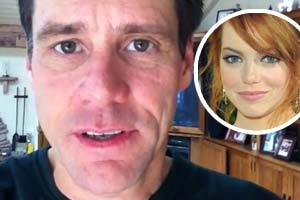 Jim Carrey confesses his love for Emma Stone in a bizarre video