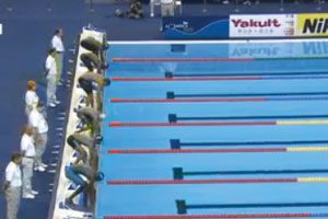 Swimmer's embarrassing false start