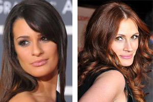 Lea Michele and Julia Roberts