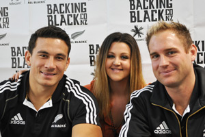 Megan catches up with the All Blacks