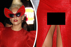 Lady Gaga gets her vajayjay out (NSFW)