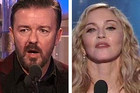 Ricky Gervais and Madonna