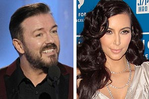Ricky Gervais and Kim Kardashian