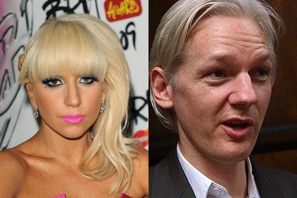 Lady Gaga visits WikiLeaks founder Julian Assange