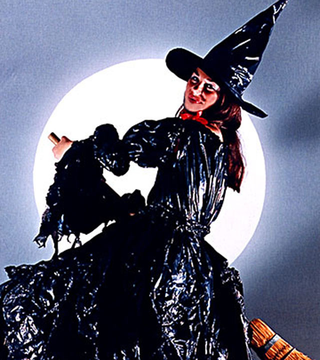 Trash bag Witch.