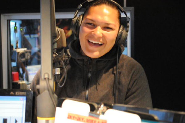 Valerie Adams judges Mike & Dom's parodies about her