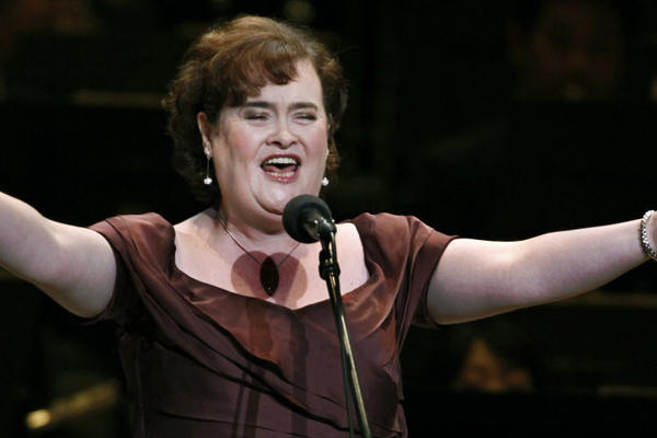 Susan Boyle is popular with the boys