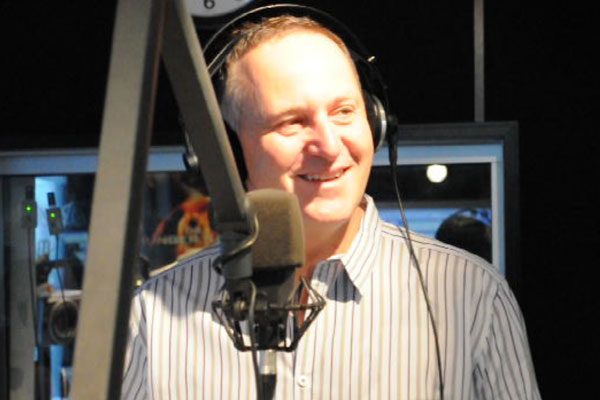 John Key in studio with Jay-Jay, Mike & Dom