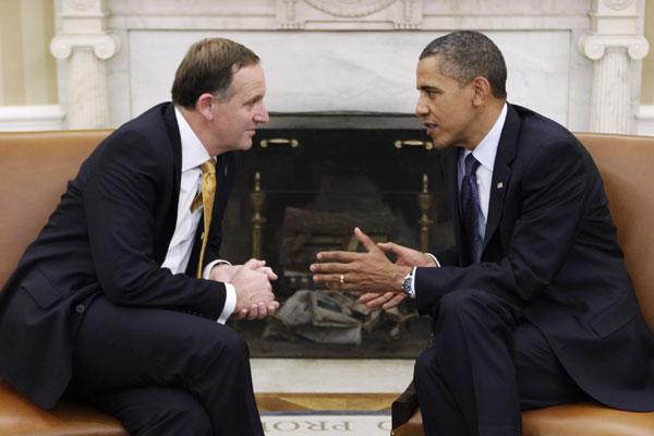 John Key, Obama