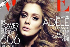 Adele looking like a babe in a Vogue photoshoot