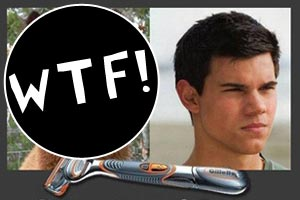 Taylor Lautner before a shave