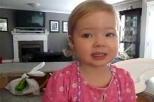 Cute 2 year old sings Adele