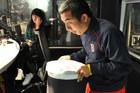 Chang eats a cicada