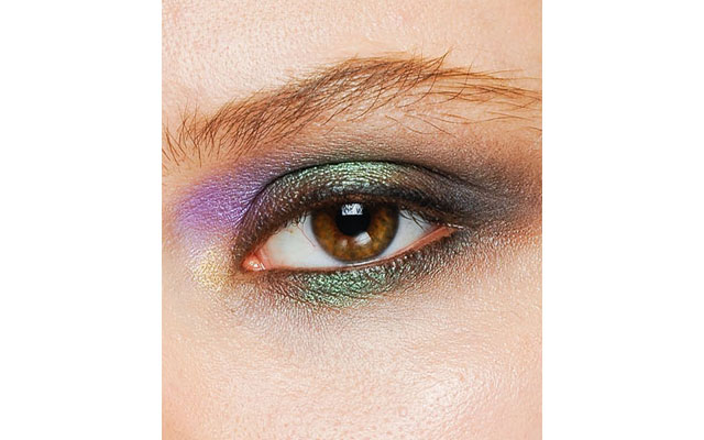 The smoky eye is back but this season with a bit of a twist.  Try adding purple, green and a bit of gold to your look to really get the look going.