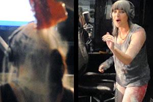 Sharyn gets flour bombed