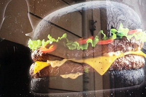 The world's first black burger - the Darth Vader Burger