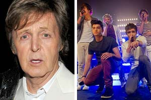 Paul McCartney and One Direction