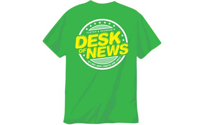 "Based on the Fletch and Vaughan radio segment ""The Desk of News"". New Zealand's most award submitted news service. Misquoting, misinforming and taking news completely out of context since ages ago & with a surprisingly low amount of BSA complaints."