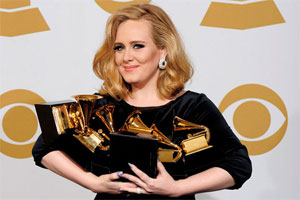 What caused Adele to pass out just days before the Grammys?