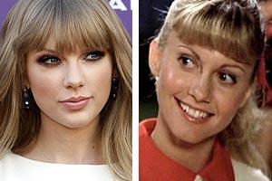 Taylor Swift and Olivia Newton John